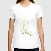 marina T-shirts featuring Zostera marina by Sandra Ovono - Watercolor Art Studio