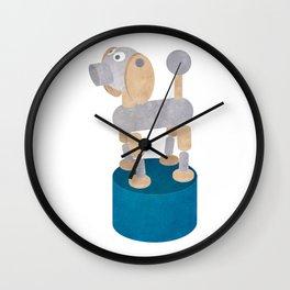 Push up dog print Wall Clock