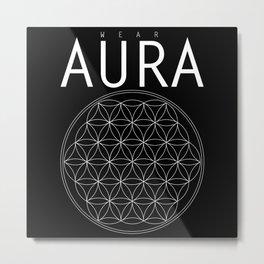 Wear AURA Flower of Life Metal Print