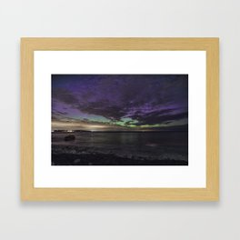 Purple Aurora at Old Garden Framed Art Print