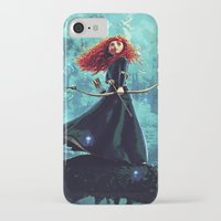brave iPhone & iPod Cases featuring Brave by Juniper Vinetree