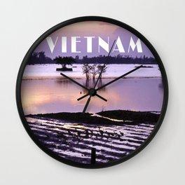 MEKONGDELTA in VIETNAM Wall Clock
