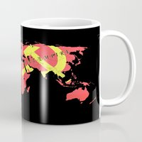 soviet Mugs featuring The American Empire and The Soviet Empire by Design Gregory
