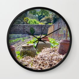 The Lost Gardens of Heligan - Rhubarb Pots Wall Clock
