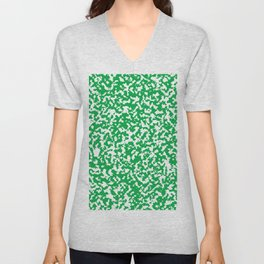 Green Abstract Shapes Seamless Patterns Unisex V-Neck
