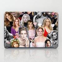 jennifer lawrence iPad Cases featuring Jennifer Lawrence by lastminutebinge