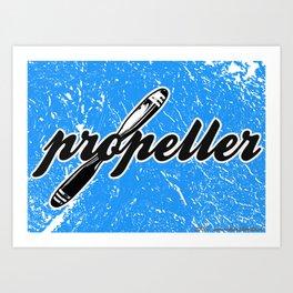 Propeller    1 --- clear2land.net copyright Art Print