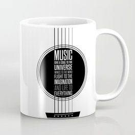 Lab No. 4 - Plato philosopher Inspirational Music Quotes  poster Coffee Mug