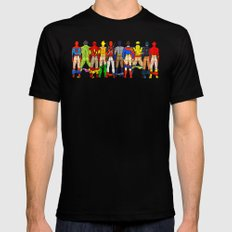 Superhero Butts LV LARGE Black Mens Fitted Tee