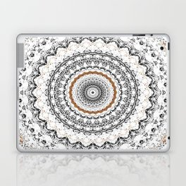 Black, Gold, and White Laptop & iPad Skin