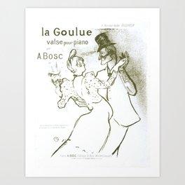 Toulouse-Lautrec, La Goulue Valse pour Piano par A. Bosc Art Print