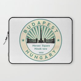Budapest, Heroes' Square, Hosök tere, Hungary, circle Laptop Sleeve