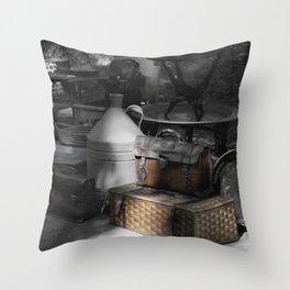 flea market Lisbon Throw Pillow