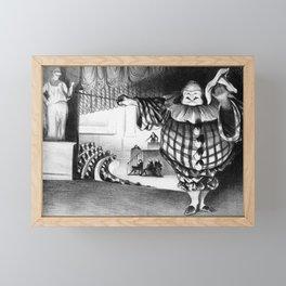"""Honoré Daumier """"Lower the curtain, the farce is ended (Baissez le rideau, la farce est jouée)"""" Framed Mini Art Print"""