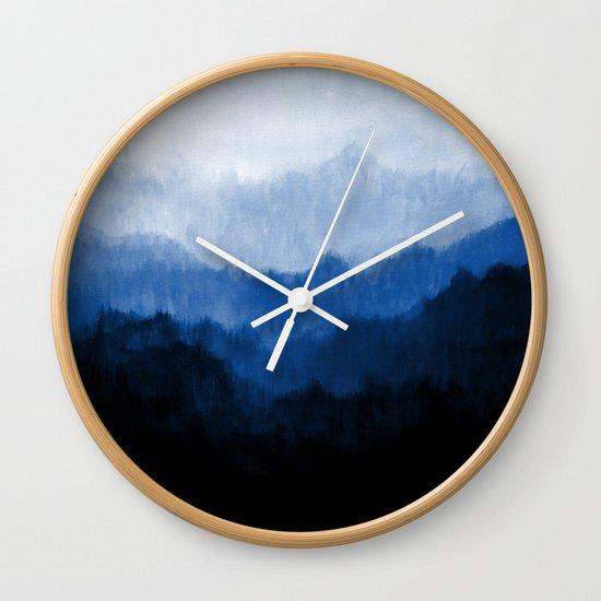 Mists - Blue Wall Clock