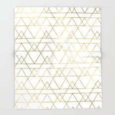 Modern Gold Throw Blanket