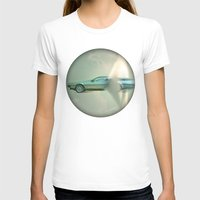 delorean T-shirts featuring Supersonic Delorean by Vin Zzep