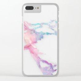 Unicorn Vein Marble Clear iPhone Case
