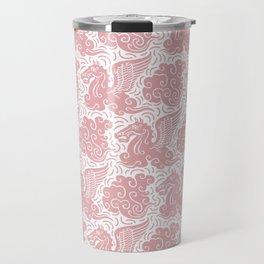 Pegasus Pattern Dusty Rose Travel Mug