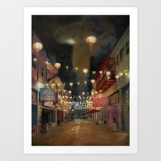 Lights on Chung King Art Print
