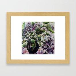 Lilac`s in vase. Framed Art Print