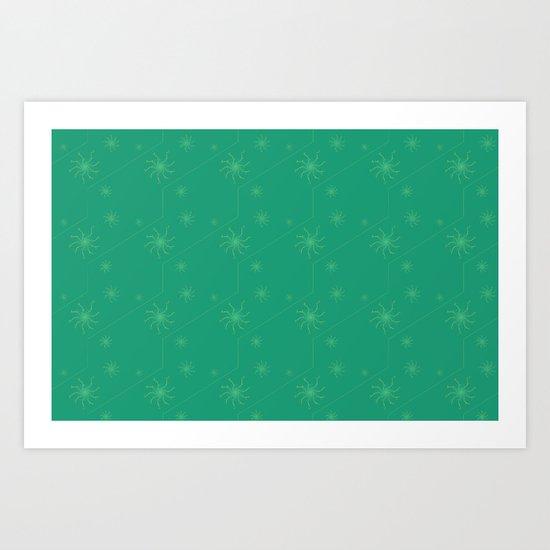 Spiral Pattern - green Art Print