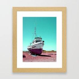 Wooden Boat Troller Fishing Oregon Coast Framed Art Print