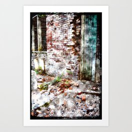 Building 9, abstracted Art Print