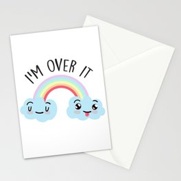 I'm Over It, Funny Cute Quote Stationery Cards