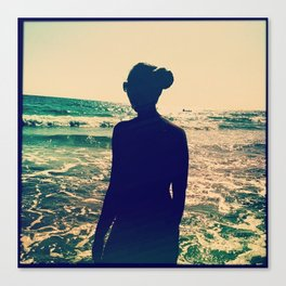 silhouetting the sea Canvas Print