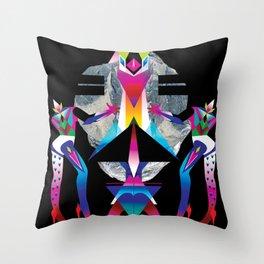 Women On Rocks Throw Pillow