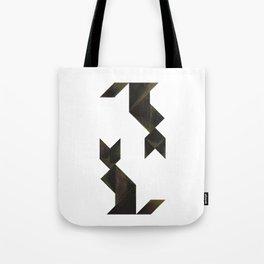 Tangram Cats Tote Bag