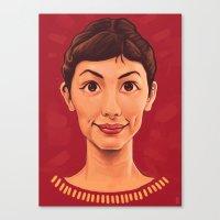 amelie Canvas Prints featuring Amelie by DC Bowers