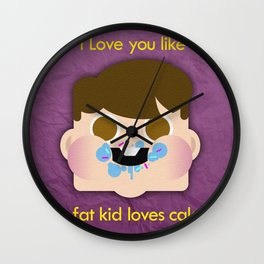 Fattycake love Wall Clock