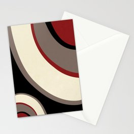 """Abstract Retro Waves"" Stationery Cards"