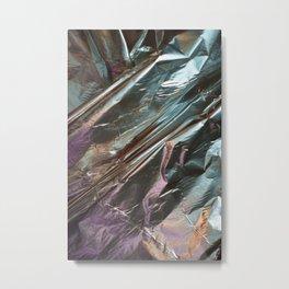 Faux Metalic Foil Metal Print