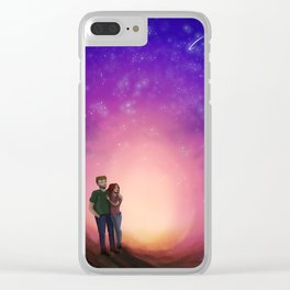 Falling star Clear iPhone Case