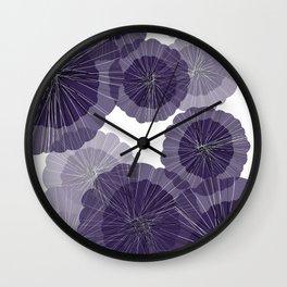 Purple decoration Wall Clock