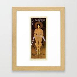 Joan of Arc vertical banner Framed Art Print