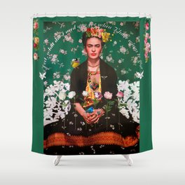 Wings To Fly Frida Shower Curtain