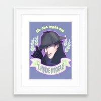 enerjax Framed Art Prints featuring Sherlock - I Made Myself by enerjax