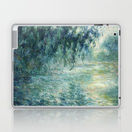 1898-Claude Monet-Morning on the Seine- 73 x 91 Laptop & iPad Skin