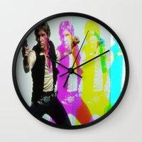 han solo Wall Clocks featuring Han Solo by Iotara