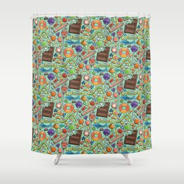 Candy Pattern Shower Curtain