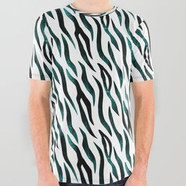 Here Kitty Kitty - Teal All Over Graphic Tee