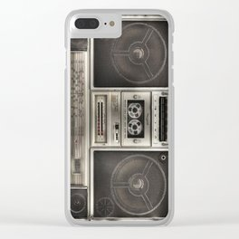 BoomBox retro casette recorder Clear iPhone Case