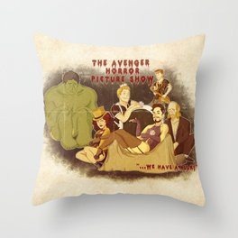 The Avenger Horror Picture Show Throw Pillow