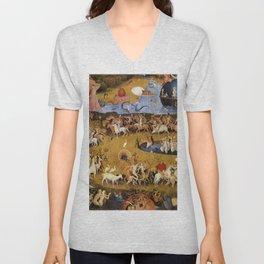 An insight into Heaven - Hieronymus Bosch Unisex V-Neck