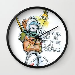 Where the hell is the global warming! Wall Clock