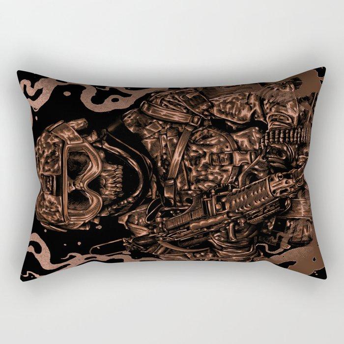 Military skull Rectangular Pillow